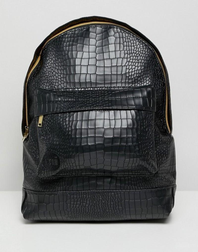 マイ・パック メンズ バックパック・リュックサック バッグ Mi-Pac backpack in matt croc Black