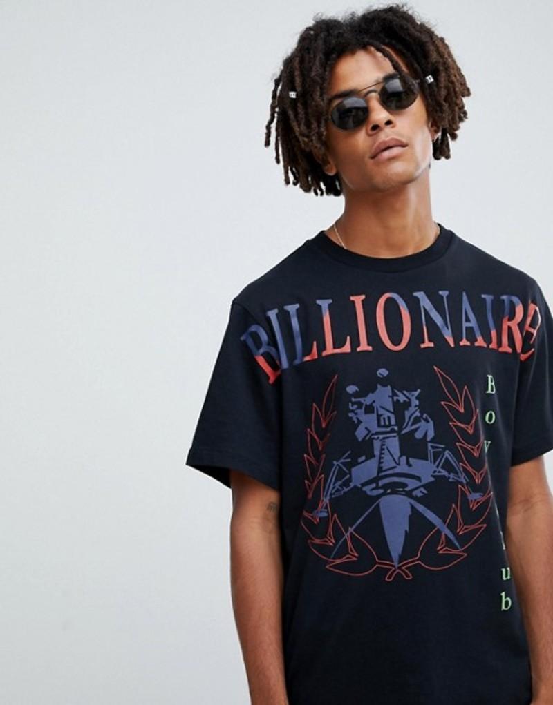 ビリオネアボーイズクラブ メンズ Tシャツ トップス Billionaire Boys Club souvenir t-shirt in black Black