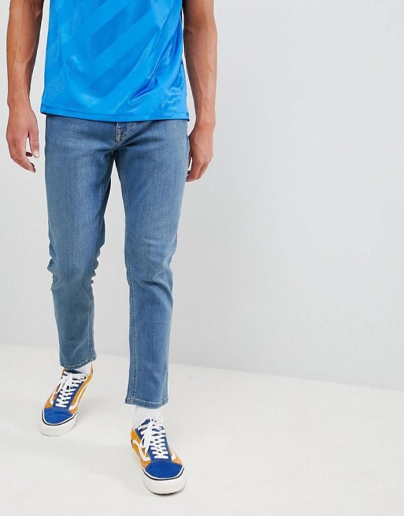 ブルックリンサプライ メンズ デニムパンツ ボトムス Brooklyn Supply Co slim jeans in vintage stone wash Stonewash blue