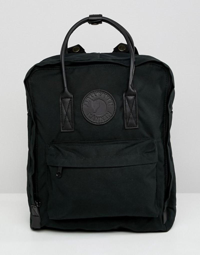 フェールラーベン メンズ バックパック・リュックサック バッグ Fjallraven Kanken No.2 16l backpack with leather straps Black