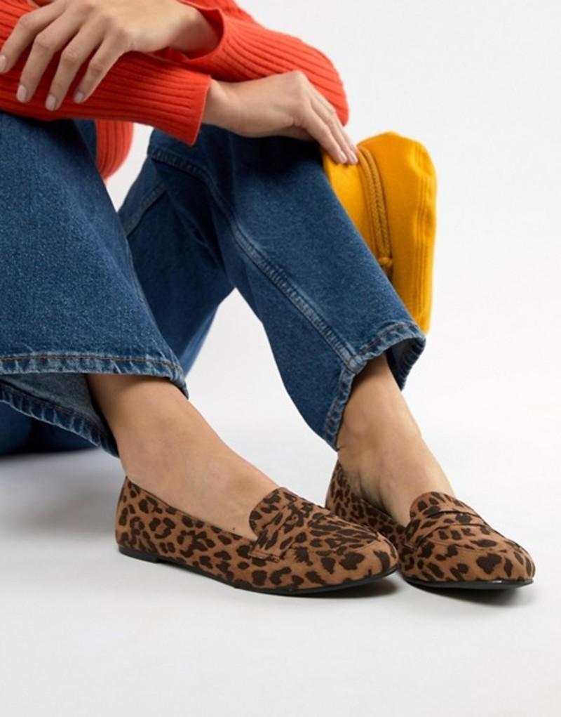 ニュールック レディース パンプス シューズ New Look Leopard Loafer Leopard