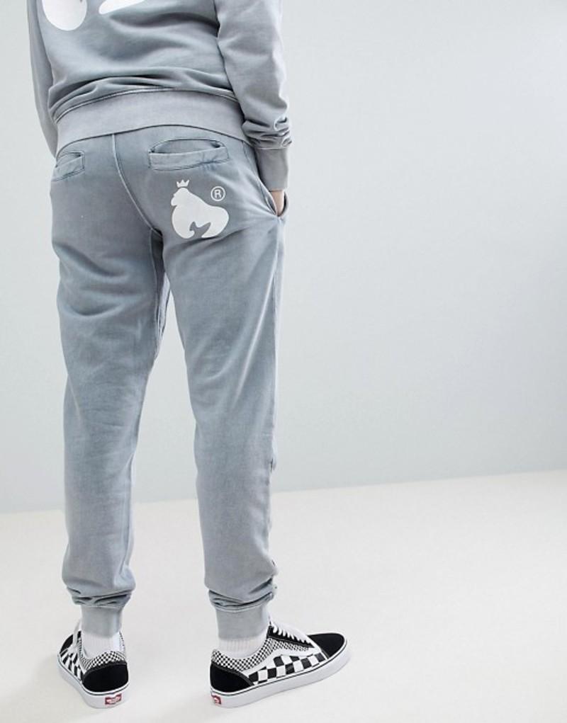 マネー メンズ カジュアルパンツ ボトムス Money joggers in gray with logo Grey