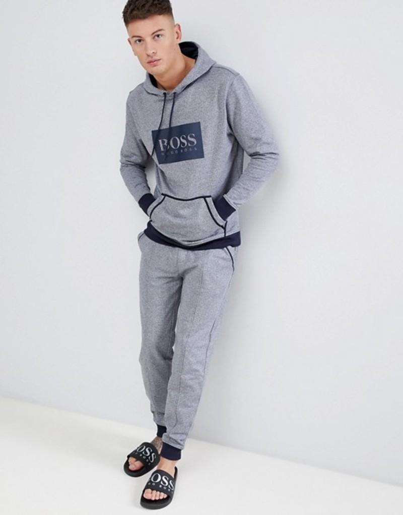 ボス メンズ カジュアルパンツ ボトムス BOSS bodywear Heritage cuffed joggers Grey