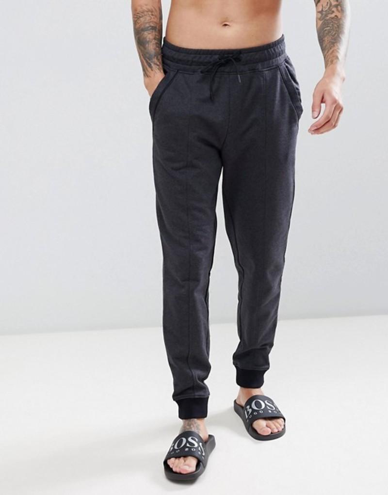 ボス メンズ カジュアルパンツ ボトムス BOSS bodywear Heritage cuffed joggers Black