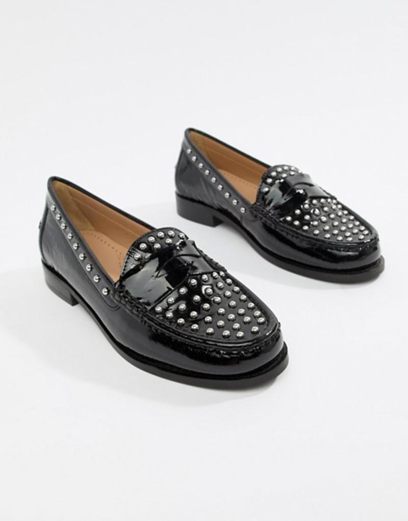 ブロンクス レディース パンプス シューズ Bronx flat loafers Black