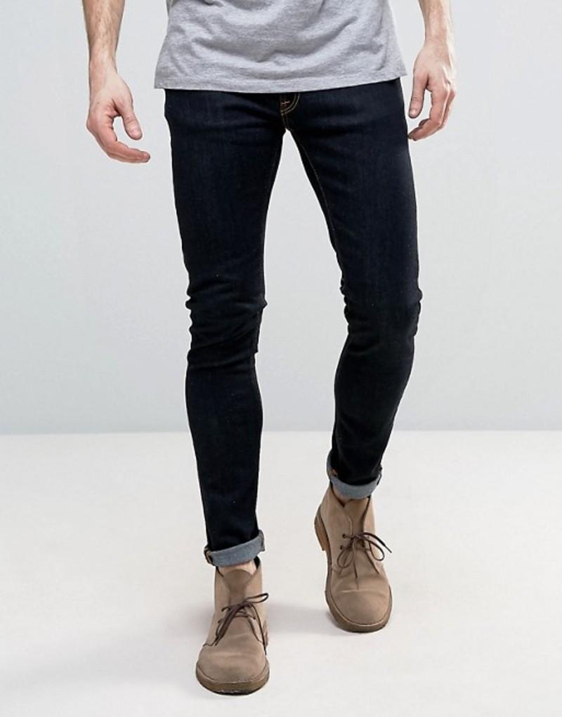 ヌーディージーンズ メンズ デニムパンツ ボトムス Nudie Jeans Co Skinny Lin super skinny jeans in deep orange Navy