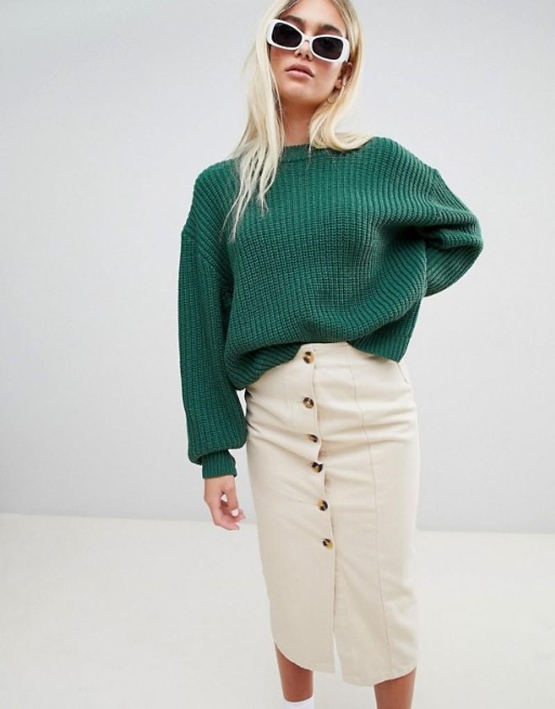 ウィークデイ レディース ニット・セーター アウター Weekday Huge Knit Sweater Bottle green