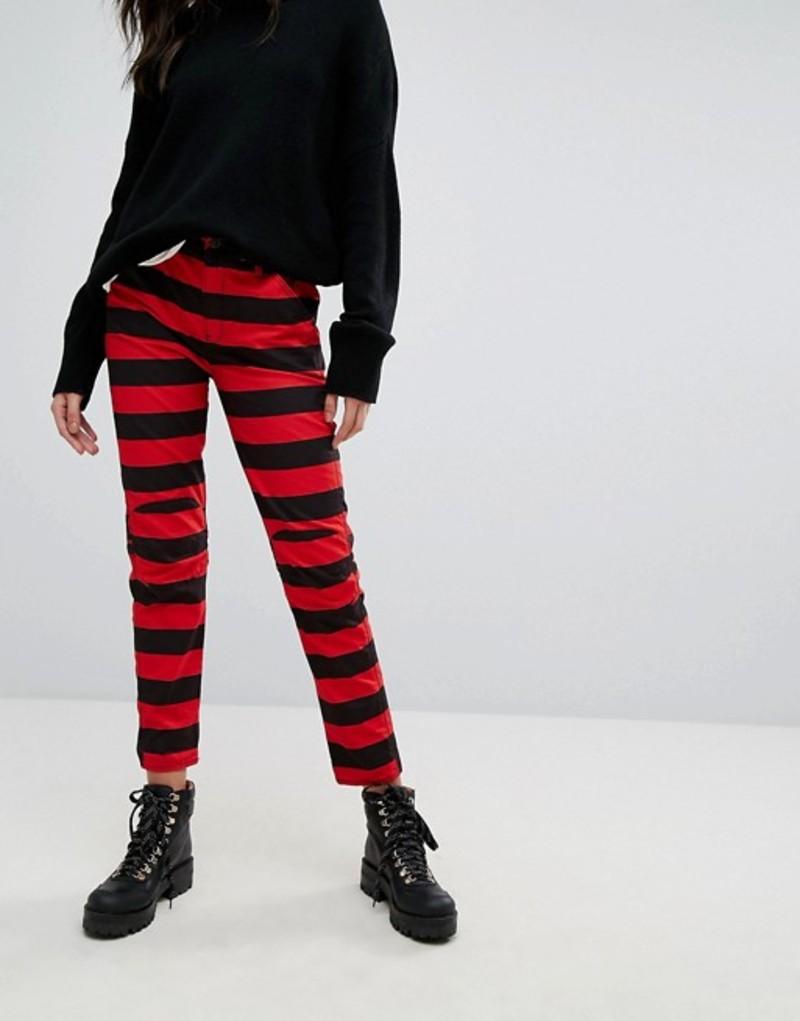 ジースター レディース デニムパンツ ボトムス G-Star 5622 Elwood X 25 Pharrell Jean in Stripe Print Prison stripe