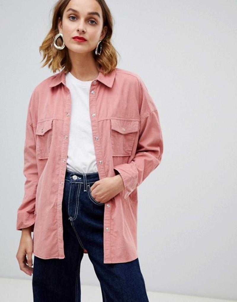 リバーアイランド レディース シャツ トップス River Island Oversized Boyfriend Shirt Pink light