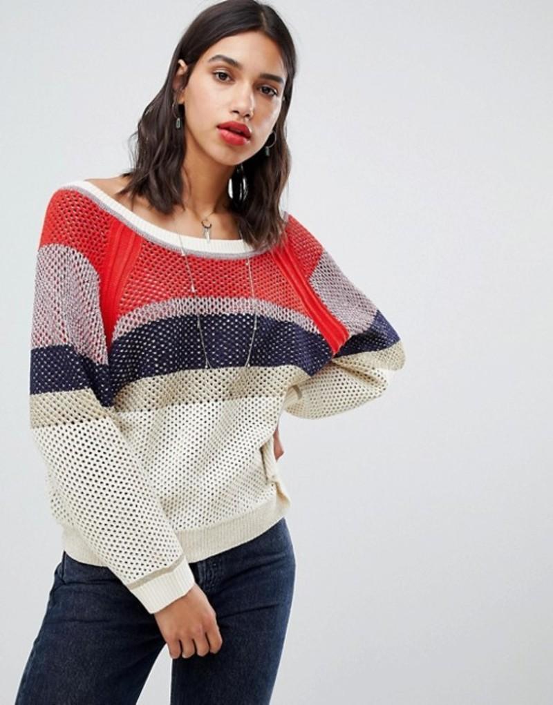 バッシュ レディース ニット・セーター アウター BA&SH Striped Oversized Sweater Multicolor