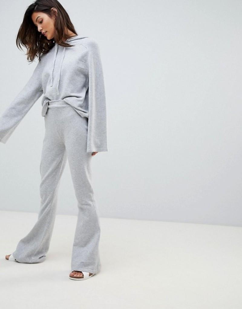 ミチャラウンジ レディース カジュアルパンツ ボトムス Micha Lounge Knit Flared Joggers Two-Piece Grey marl
