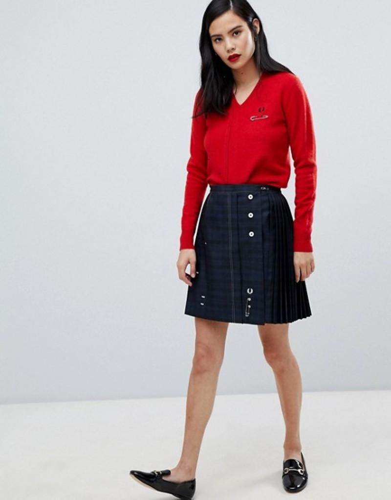 フレッドペリー レディース スカート ボトムス Fred Perry x Le Kilt tonal plaid skirt Black
