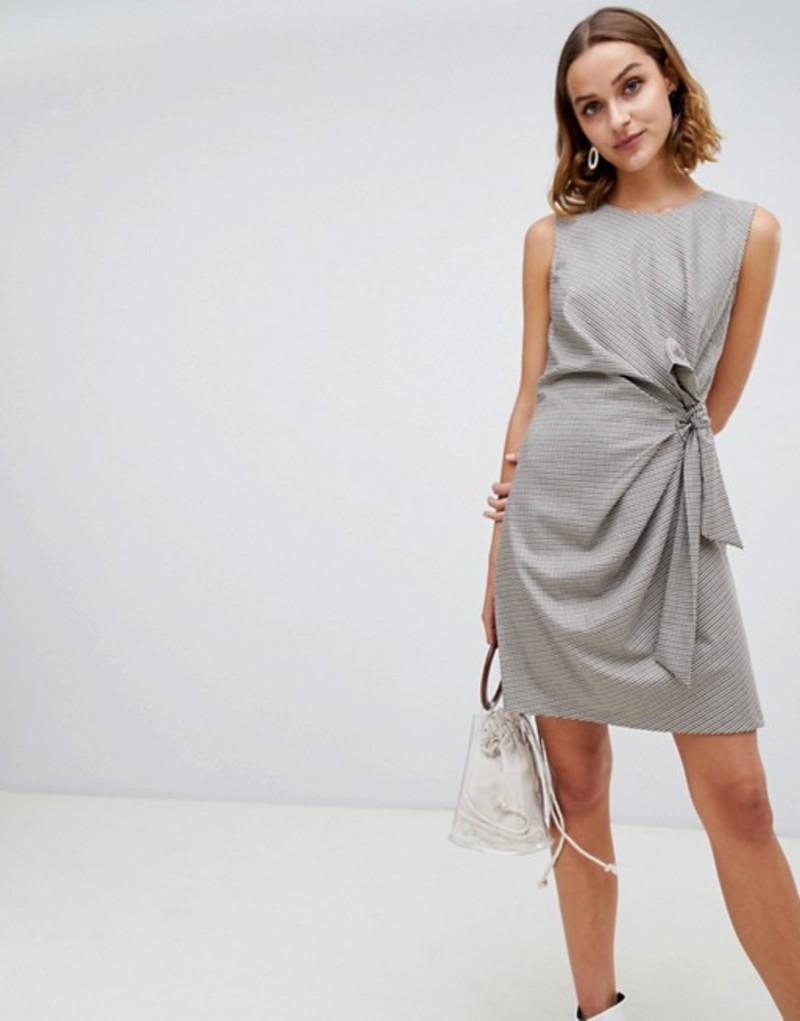 ウエアハウス レディース ワンピース トップス Warehouse twist front mini dress in check Check