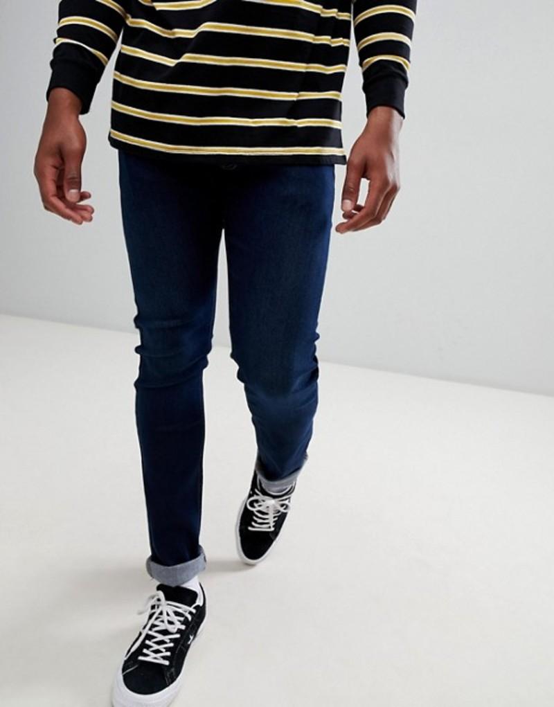 リー メンズ デニムパンツ ボトムス Lee Jeans Luke slim tapered jeans in dark used blue Bl1