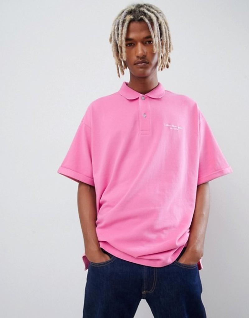 カルバンクライン メンズ ポロシャツ トップス Calvin Klein relaxed logo print polo shirt Pi1