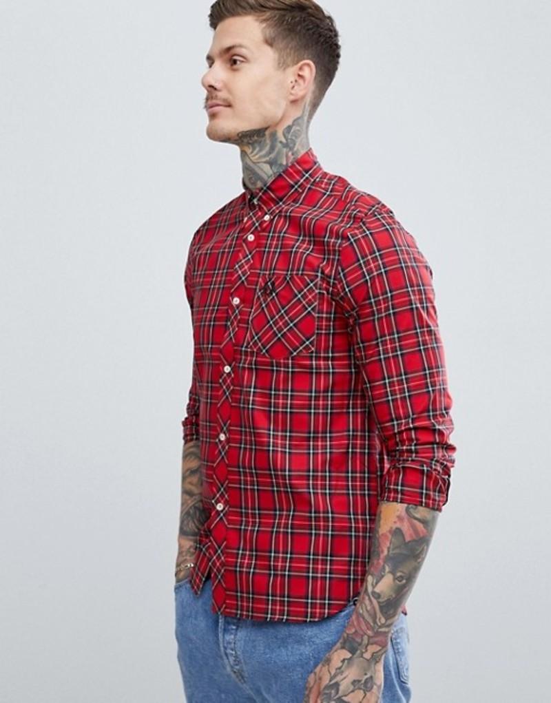 フレッドペリー メンズ シャツ トップス Fred Perry Reissues plaid shirt in red Red