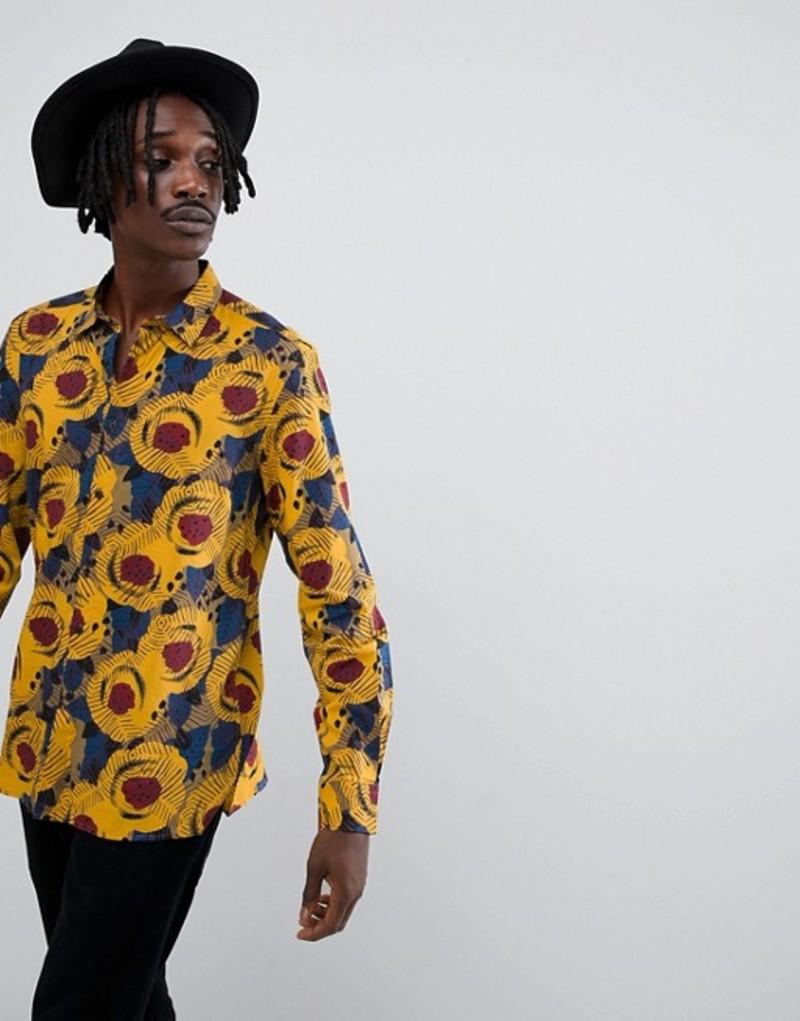 アンソニーモラート メンズ シャツ トップス Antony Morato shirt with leaf print Yellow