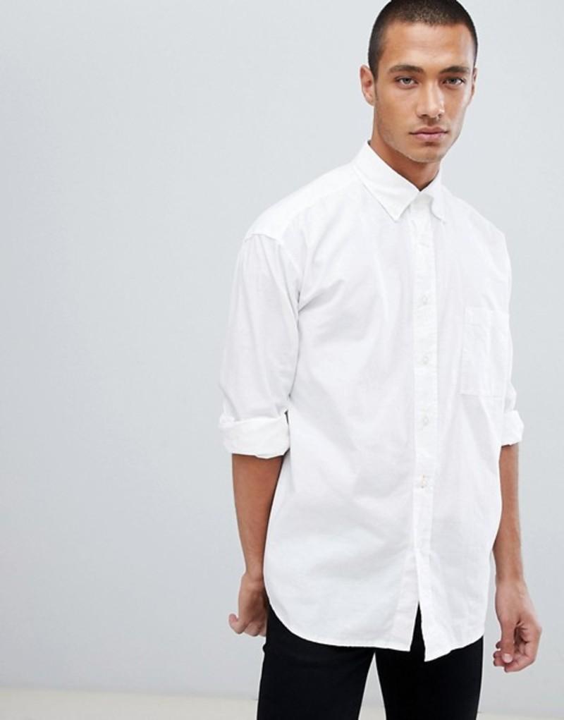 ボス メンズ シャツ トップス Boss Leight Relaxed fit buttondown oxford shirt in white White