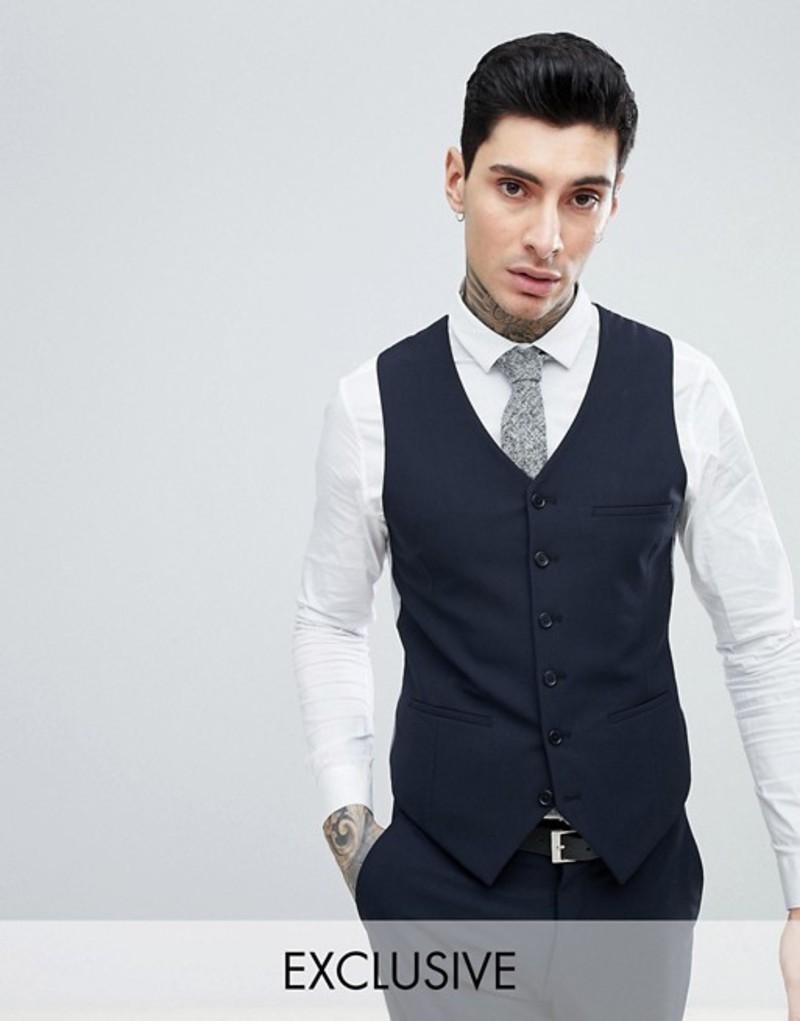 ハートアンドダガー メンズ タンクトップ トップス Heart & Dagger skinny suit vest Navy