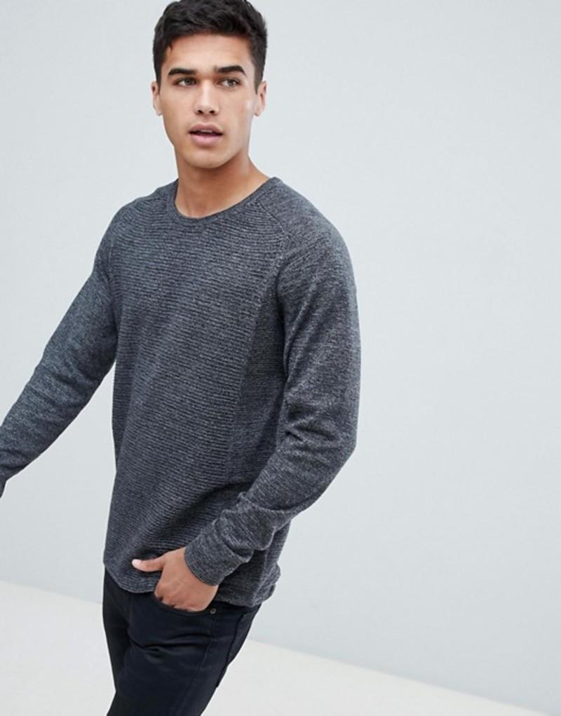 セレクテッドオム メンズ ニット・セーター アウター Selected Homme Knitted Sweater In Ribbed 100% Organic Cotton Deep depths