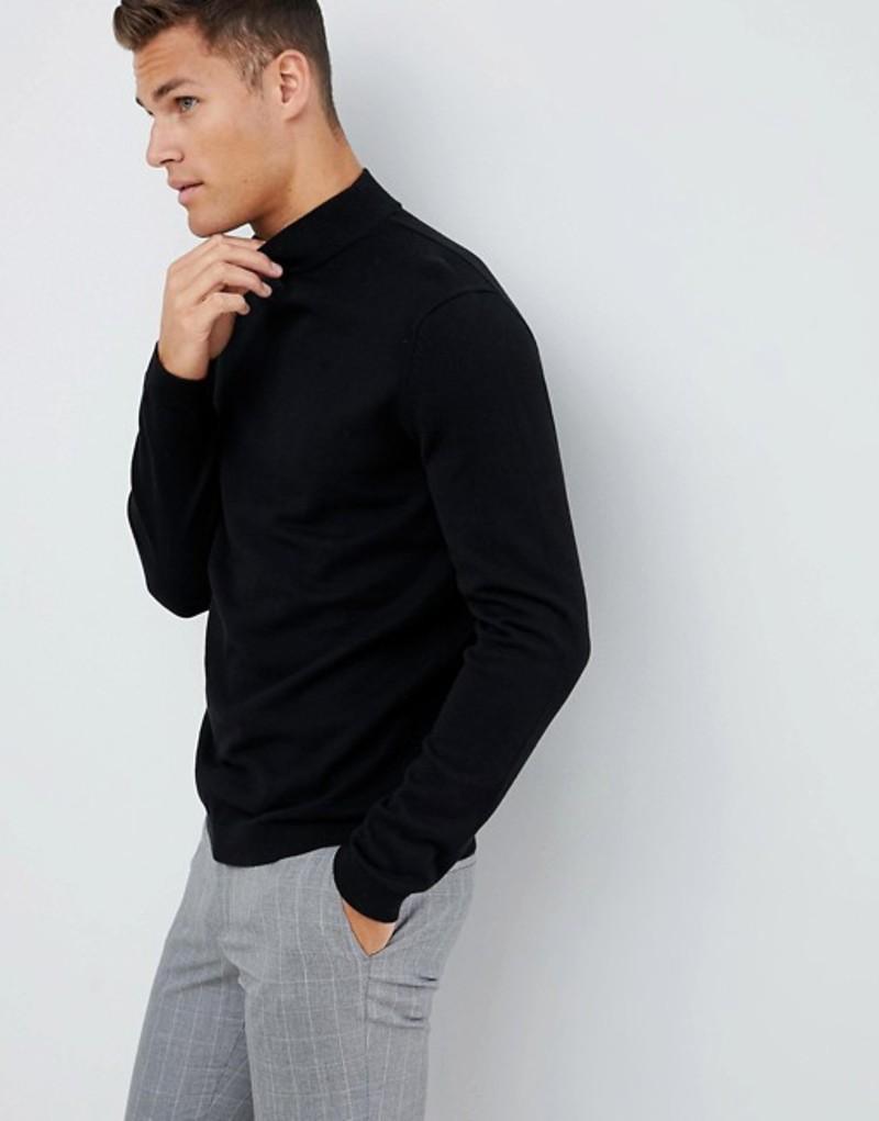 オンリーアンドサンズ メンズ ニット・セーター アウター Only & Sons high neck knit Black