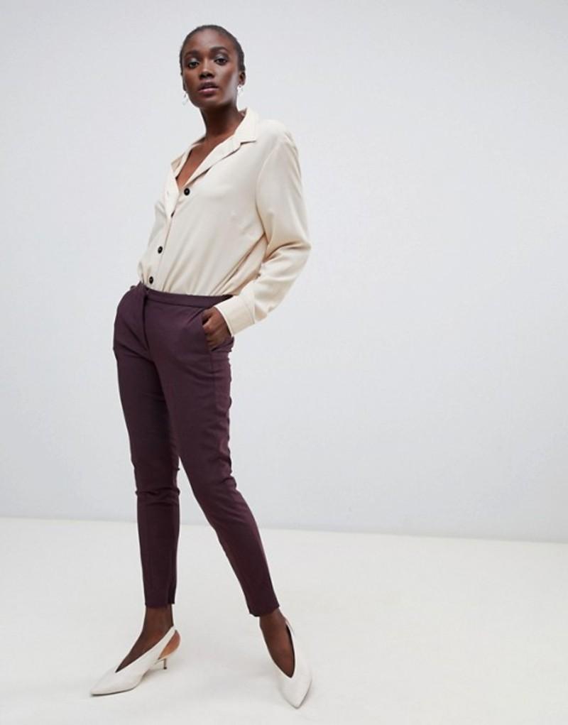 セレクティッド レディース カジュアルパンツ ボトムス Selected Femme Cropped Tailored PANTS Decandent chocolate