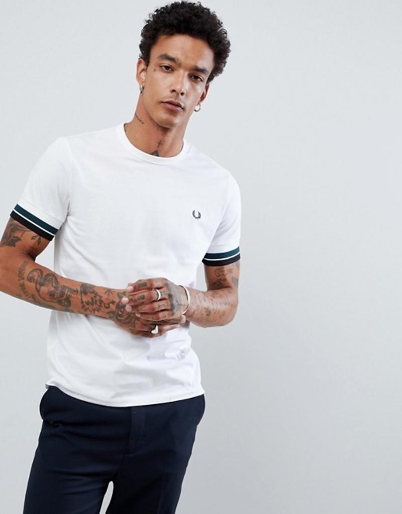 フレッドペリー メンズ Tシャツ トップス Fred Perry bold tipped t-shirt in white White