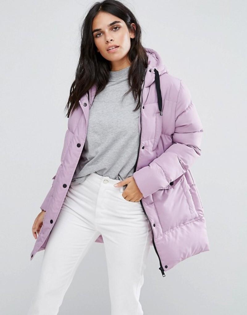 ブレーブソウル レディース コート アウター Brave Soul Mid Padded Coat Lilac