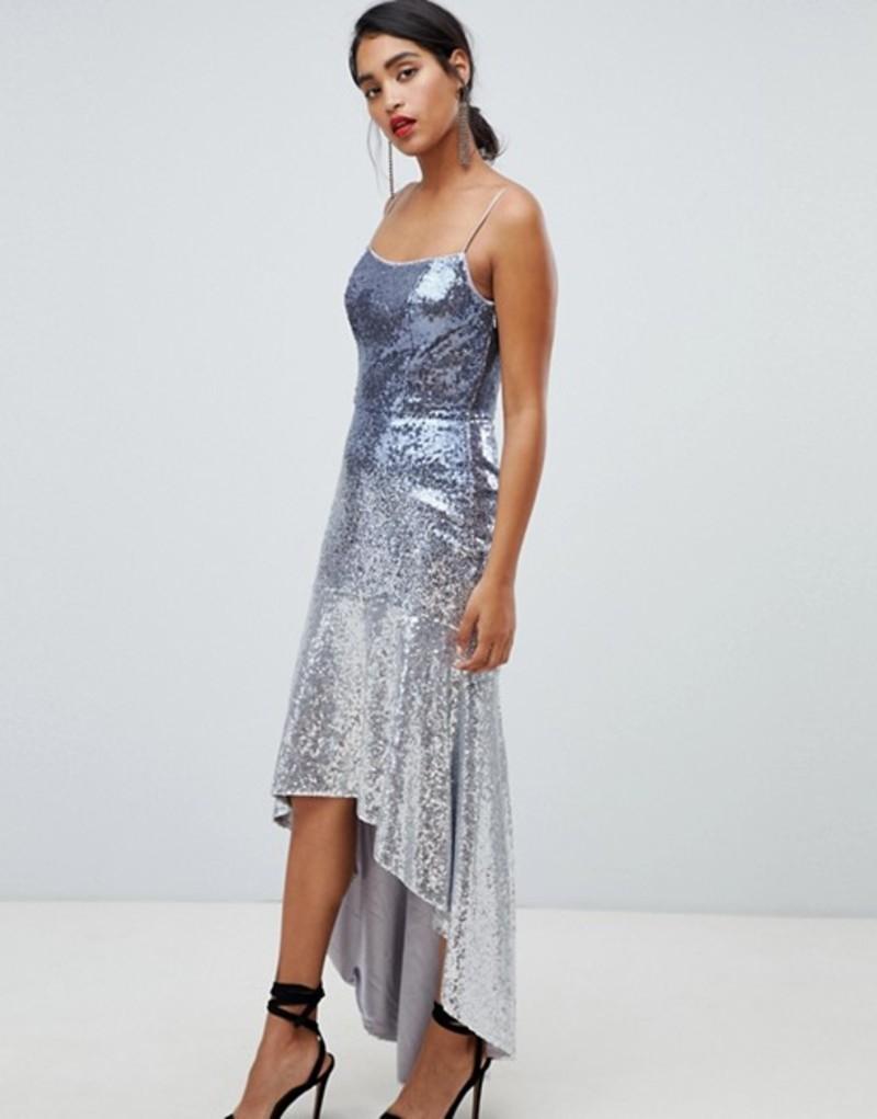 チチロンドン レディース ワンピース トップス Chi Chi London sequin embellished cami strap midi dress with fluted hem Multi
