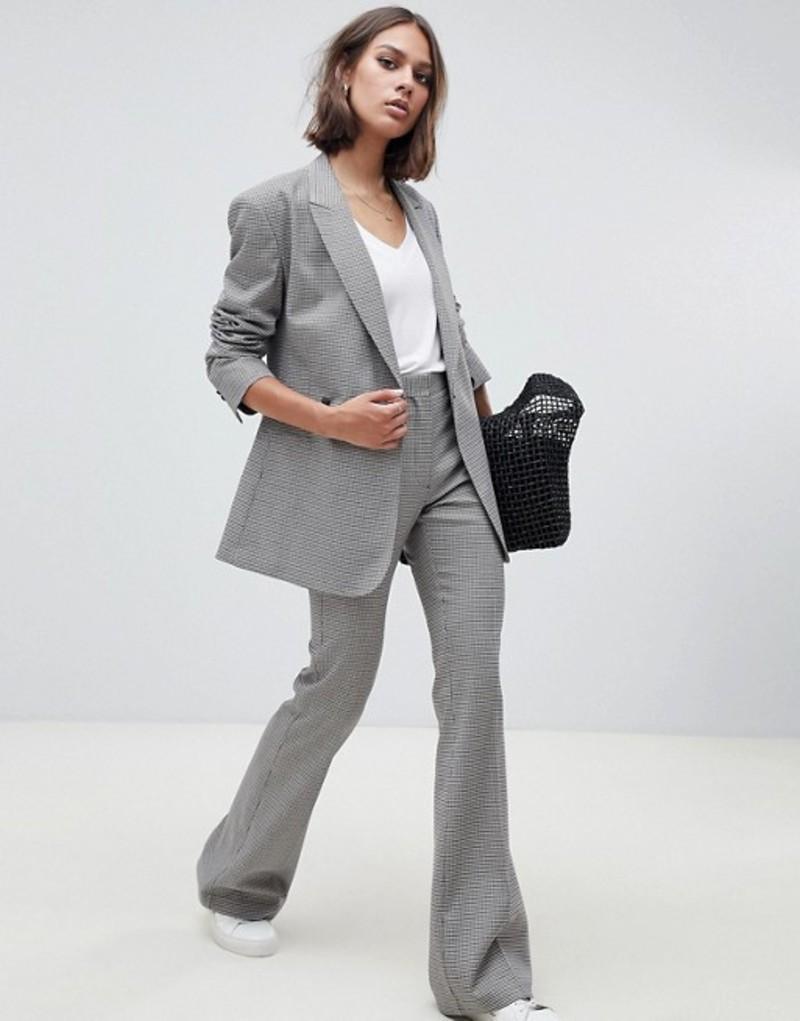 エイソス レディース カジュアルパンツ ボトムス ASOS DESIGN tailored check slim flare pants Check