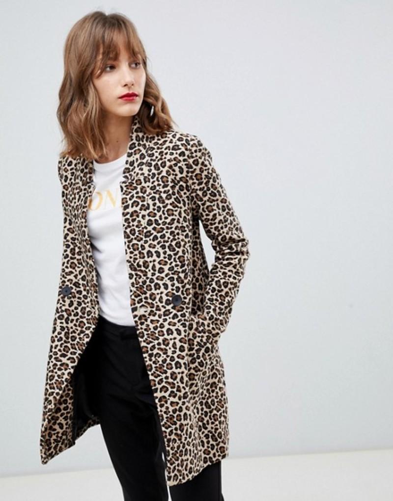 ストラディバリウス レディース コート アウター Stradivarius leopard print coat Multi