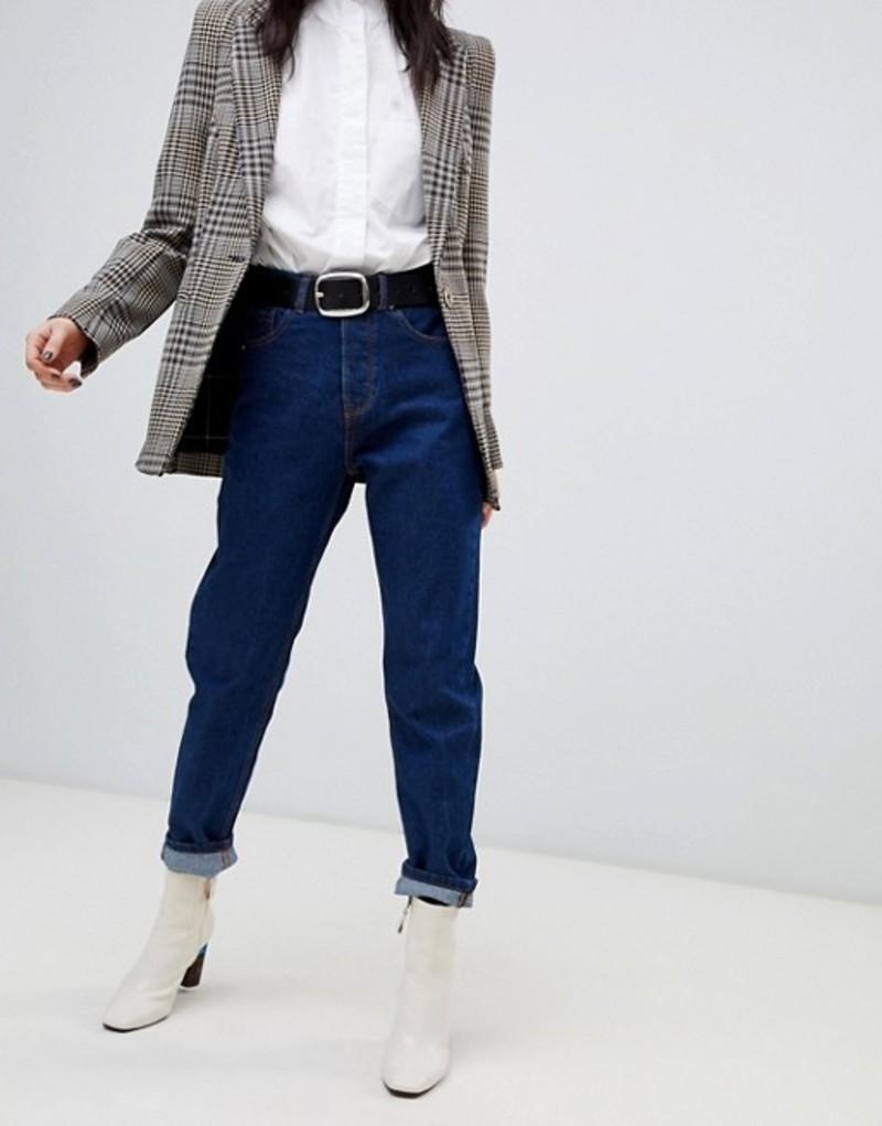 ストラディバリウス レディース デニムパンツ ボトムス Stradivarius mom fit jeans Blue