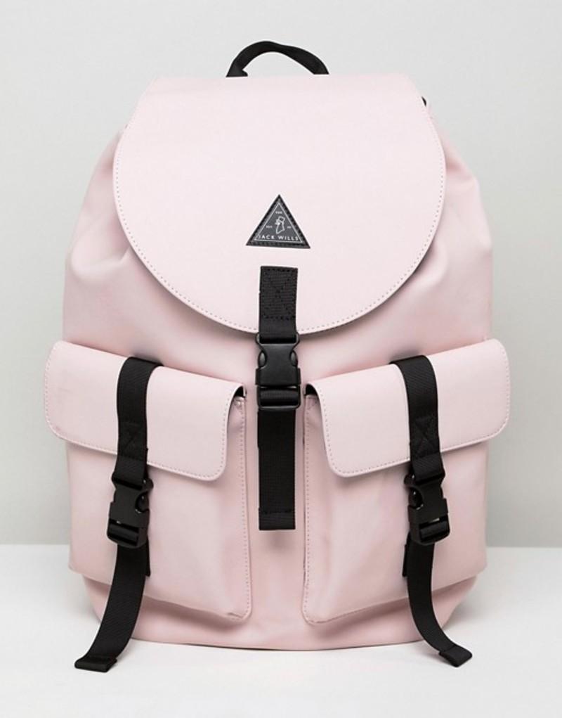 ジャック ウィルス レディース バックパック・リュックサック バッグ Jack Wills rubberized cargo backpack Pink