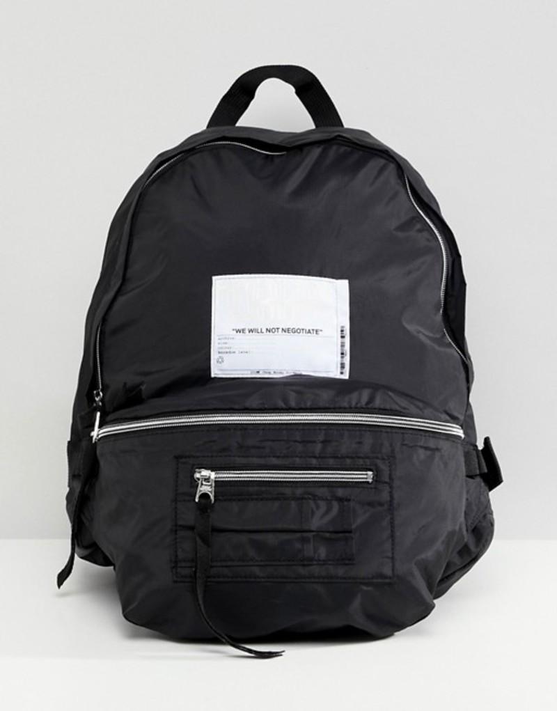 チープマンデー レディース バックパック・リュックサック バッグ Cheap Monday multi pocket backpack with patch Black