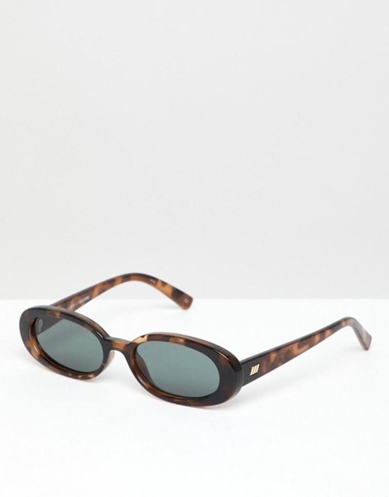 ルスペックス メンズ サングラス・アイウェア アクセサリー Le Specs Outta Love slim oval sunglasses in tort Brown