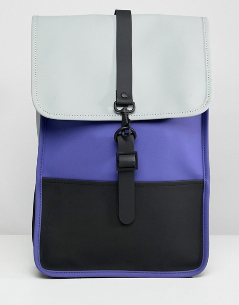 レインズ レディース バックパック・リュックサック バッグ Rains mini backpack Lilac/black/stone