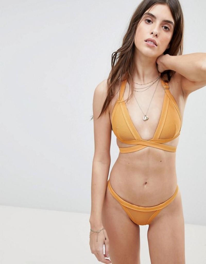 ズールーアンドゼファー レディース トップのみ 水着 Halter Zulu & Bikini Zephry Burnt Ribbed Halter Wrap Bikini Top Burnt orange, ジェムバザール:ec2fab2f --- officewill.xsrv.jp