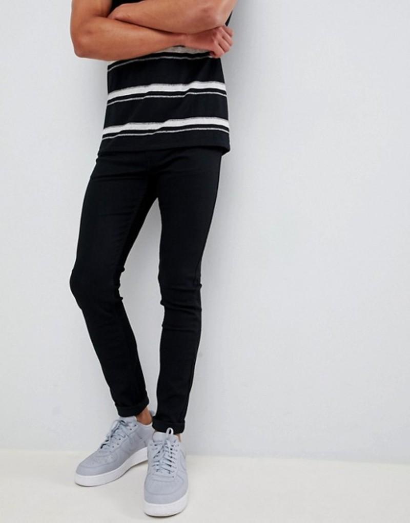 リー メンズ デニムパンツ ボトムス Lee Jeans Malone skinny jeans in fresh black rinse Bk1