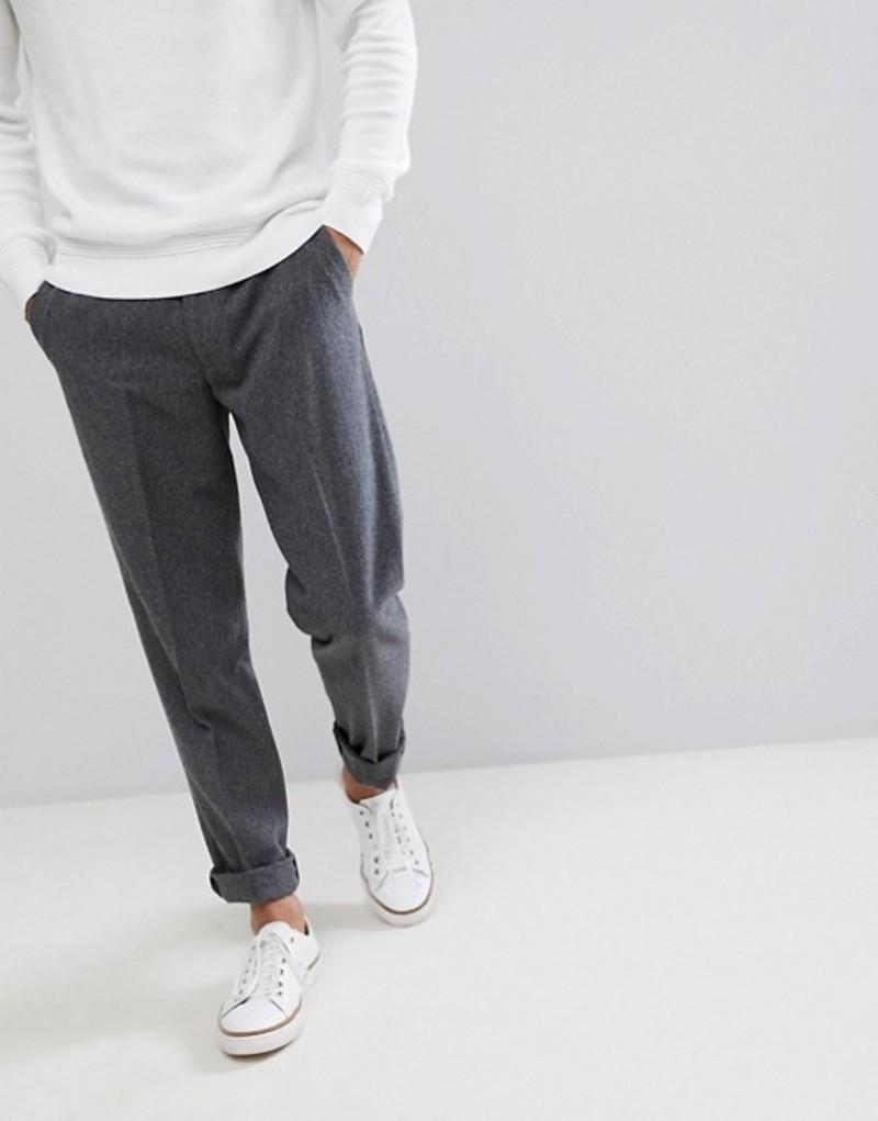 ファーラー メンズ カジュアルパンツ ボトムス Farah Wool Crop Lined Plain Pants Grey