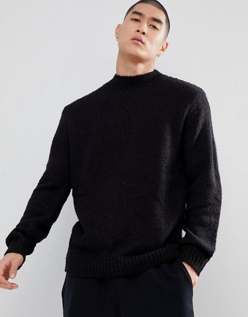 チープマンデー メンズ ニット・セーター アウター Cheap Monday High Neck Sweater Black