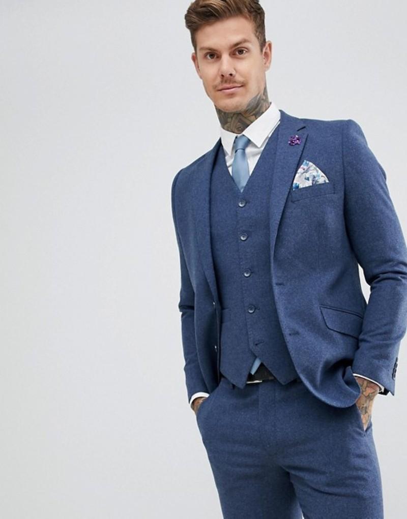 ジャンニ フェロー メンズ ジャケット・ブルゾン アウター Gianni Feraud Slim Fit Wool Blend Heritage Donnegal Suit jacket Navy