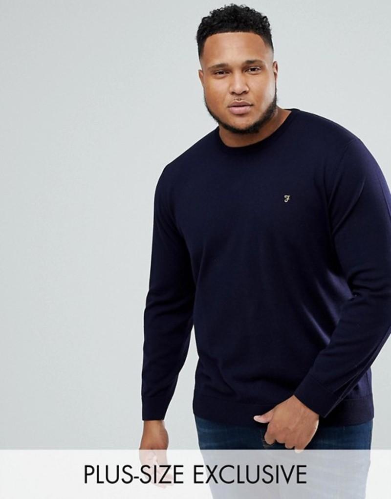 ファーラー メンズ ニット・セーター アウター Farah PLUS Mullen Merino Sweater in Navy Navy