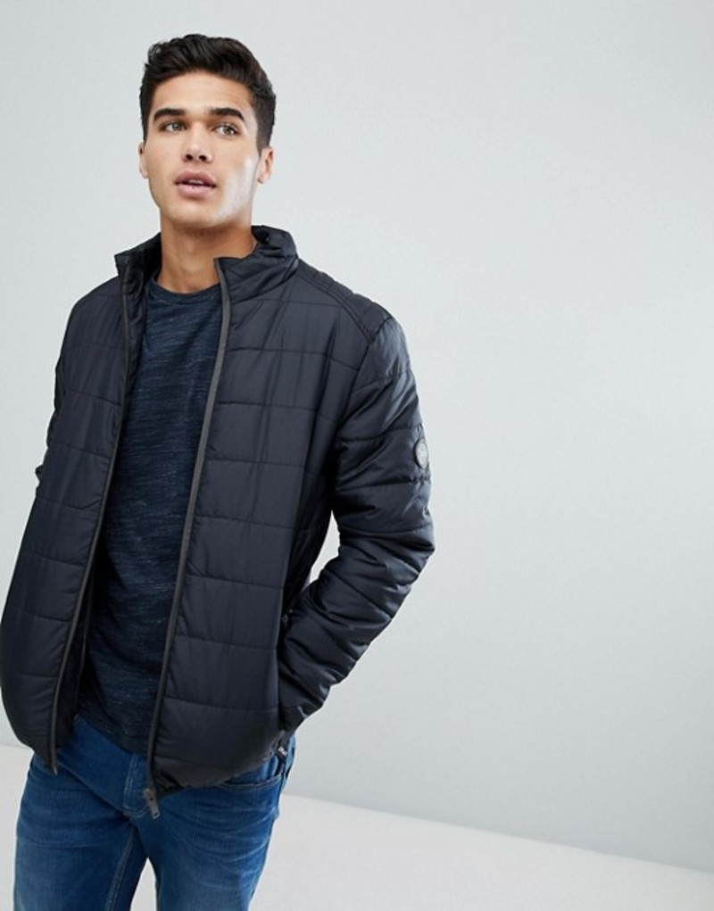 ブレーブソウル メンズ ジャケット・ブルゾン アウター Brave Soul Padded Zip Through Jacket Black