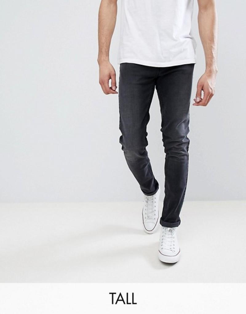 ファーラー メンズ デニムパンツ ボトムス Farah TALL Drake Slim Fit Jeans in Charcoal Grey