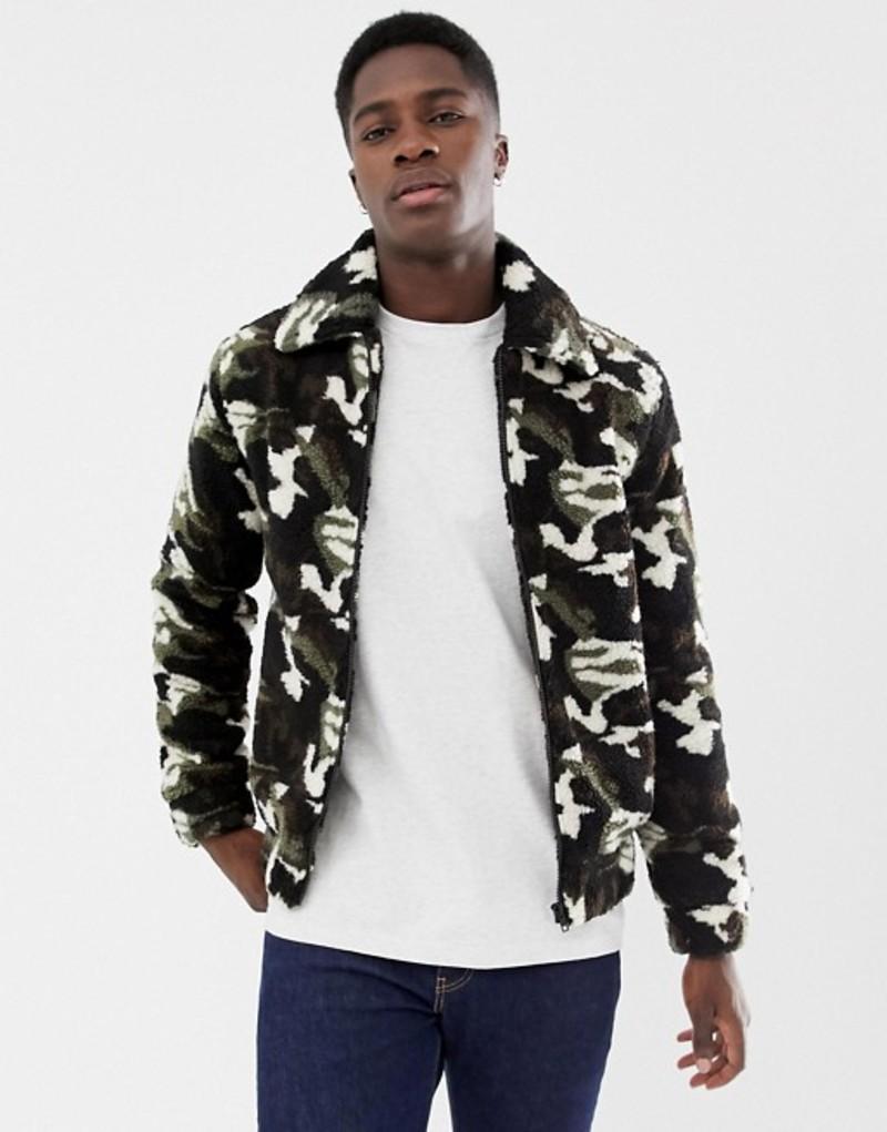 アナザーインフルエンス メンズ ジャケット・ブルゾン アウター Another Influence Zip Through Fleece Jacket Green