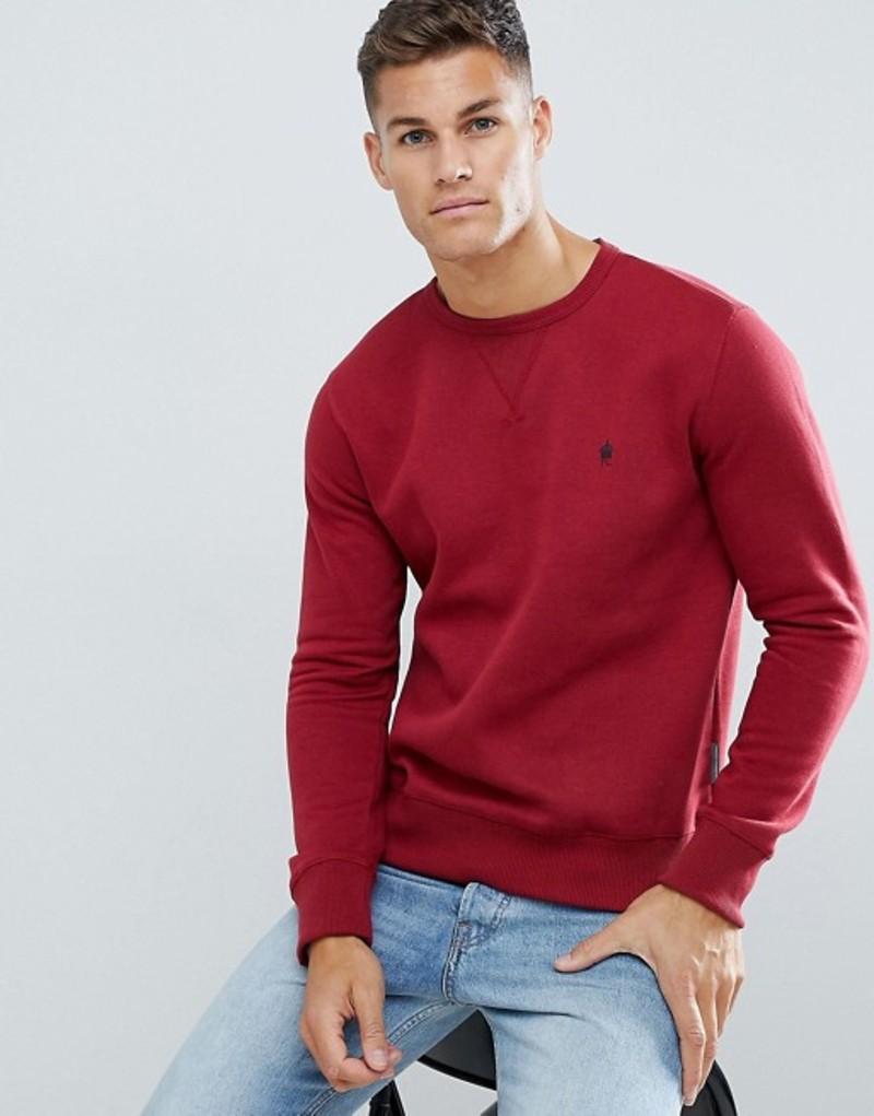 フレンチコネクション メンズ ニット・セーター アウター French Connection Basic Logo Crew Neck Sweater Rust