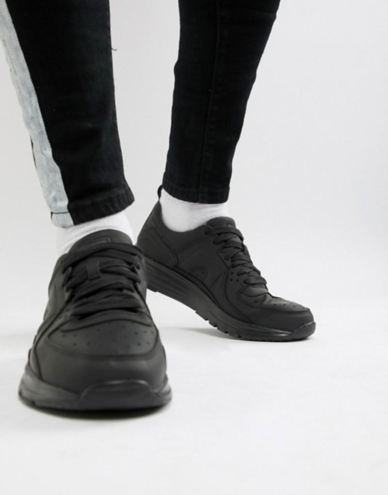 カンペール メンズ スニーカー シューズ Camper Drift suede sneaker in black Black