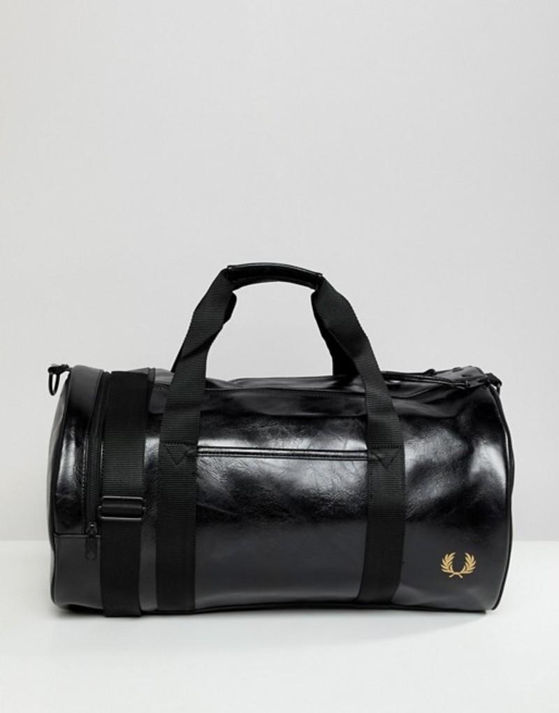 フレッドペリー メンズ ボストンバッグ バッグ Fred Perry classic barrel bag in black Black