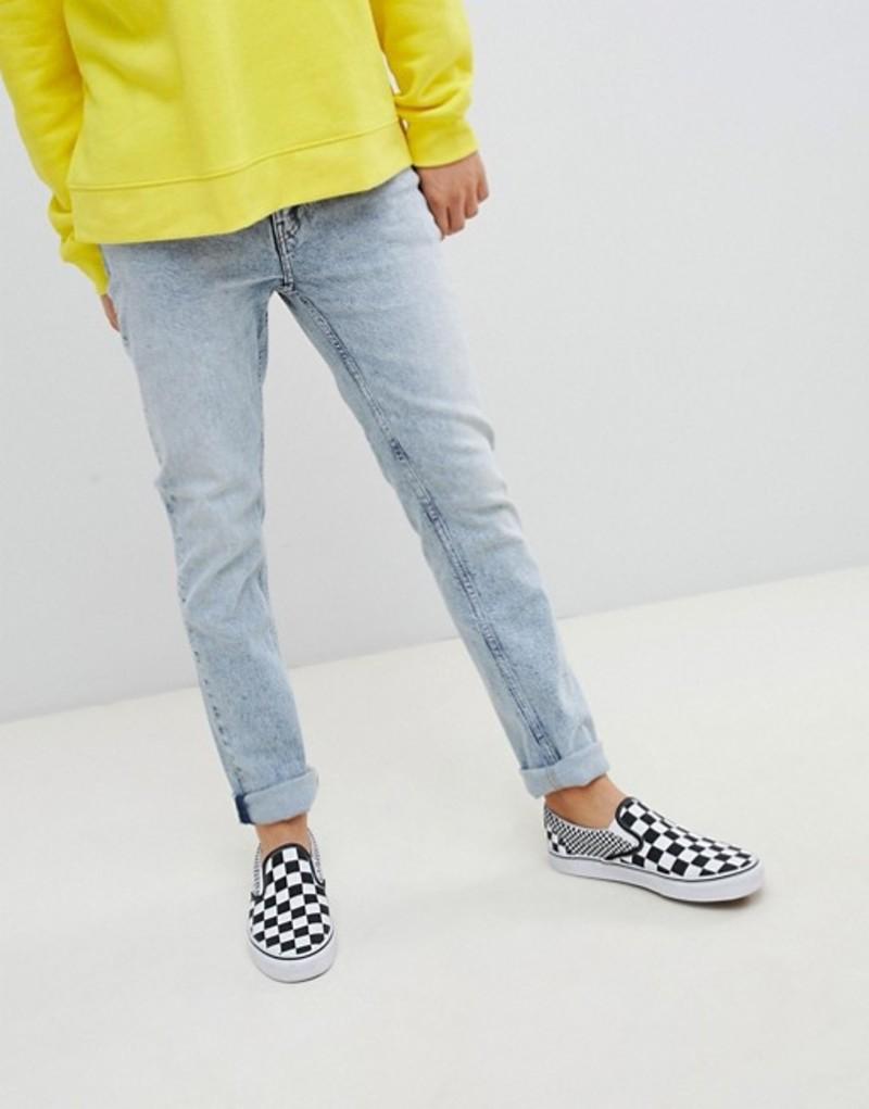 チープマンデー メンズ デニムパンツ ボトムス Cheap Monday Tapered Jeans In Blue Blue