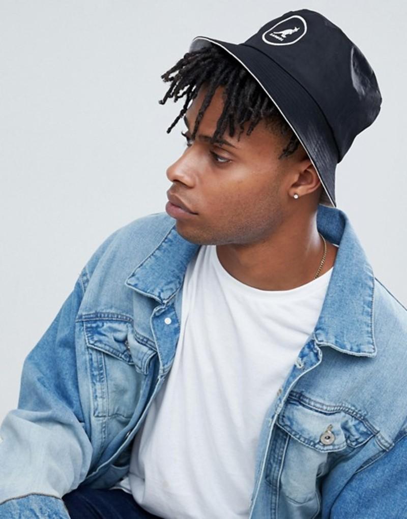 カンゴール メンズ 帽子 アクセサリー Kangol cotton bucket hat in black Black